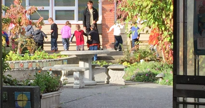 Teaching in the RainGarden at Vic West